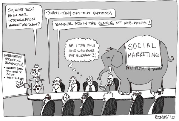 social marketing elephant in the room