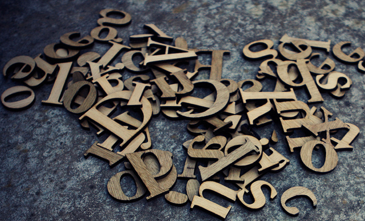 Caslon Typeface Wood-type