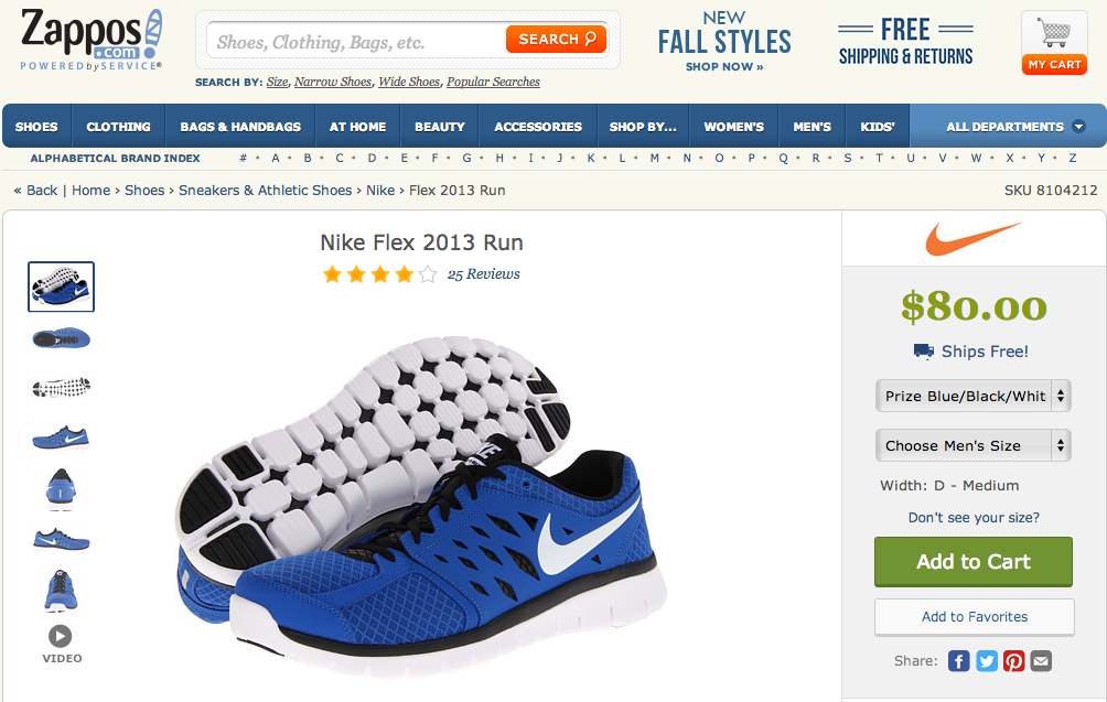 Nike Flex 2013 Run Prize Blue Black White   Zappos.com Free Shipping BOTH Ways