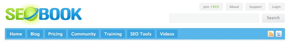 SEO Book Blog Screenshot