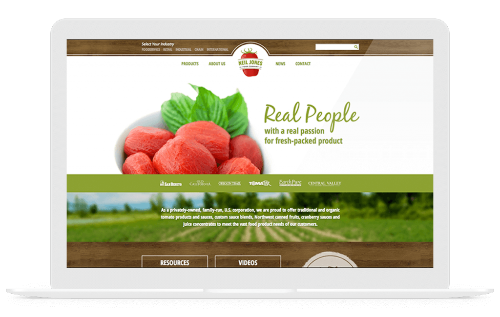 Web Design Development Case Study For Neil Jones Food Company