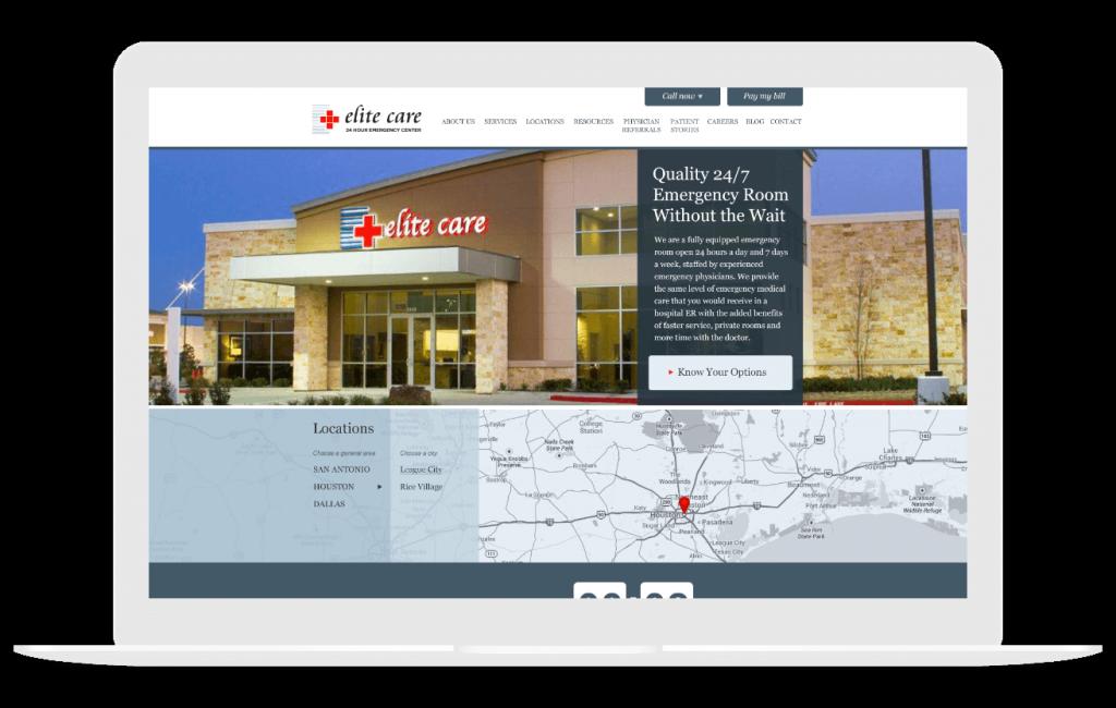 elite care medical website design