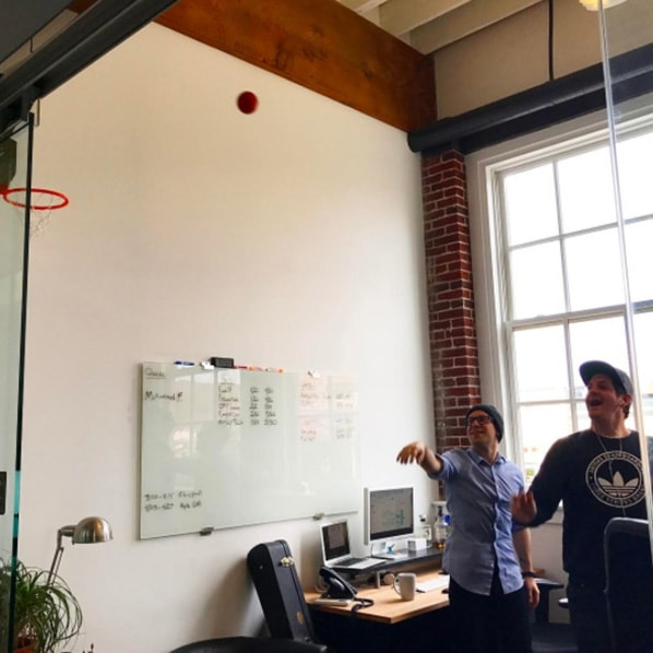 shooting hoops at gravitate