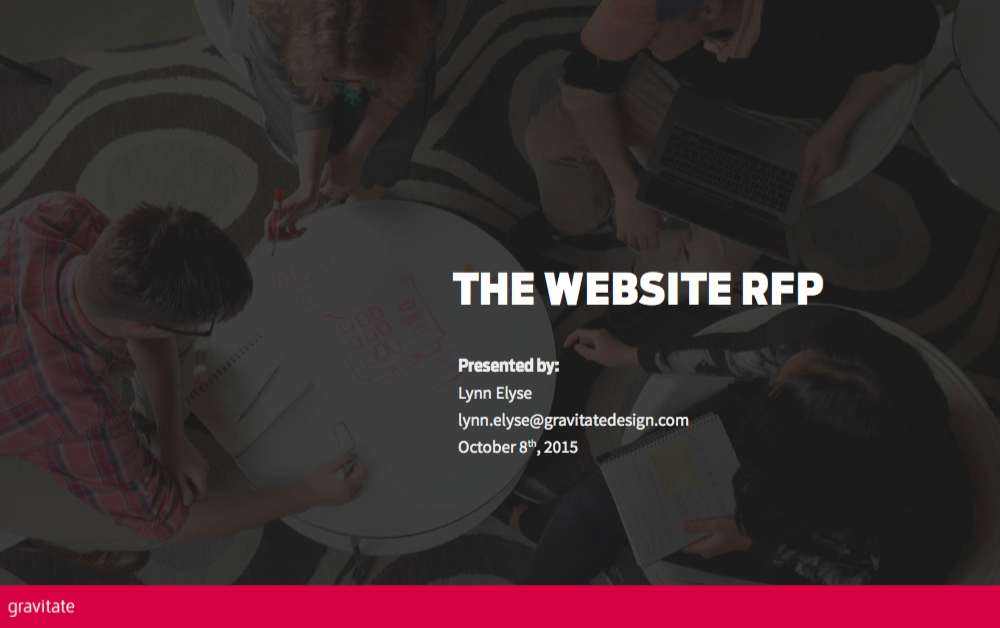 the website rfp slides