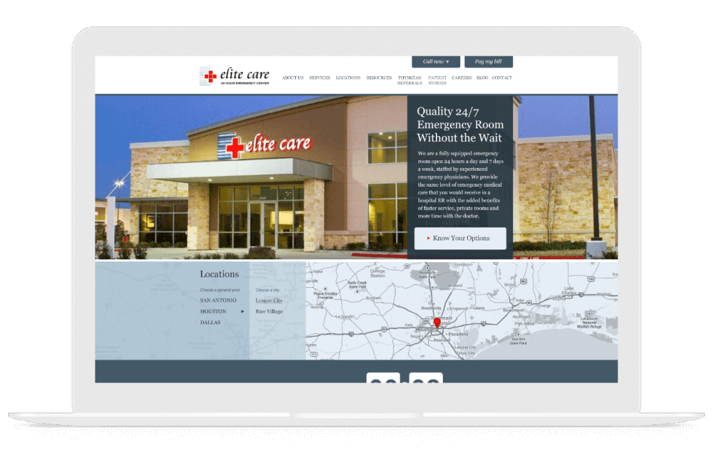 elite care medical web design
