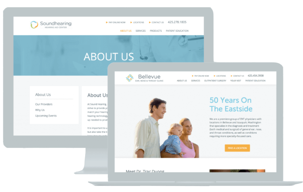 medical and healthcare web design for proliance health