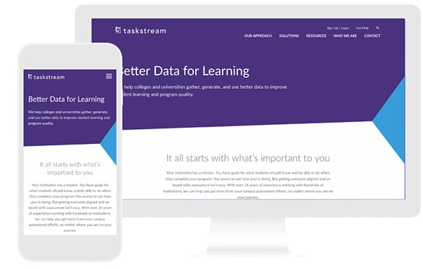 taskstream website design