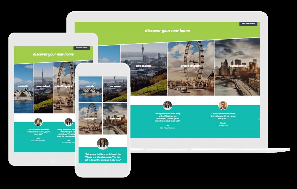 creative travel website design