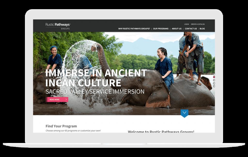 travel web design for rustic pathways