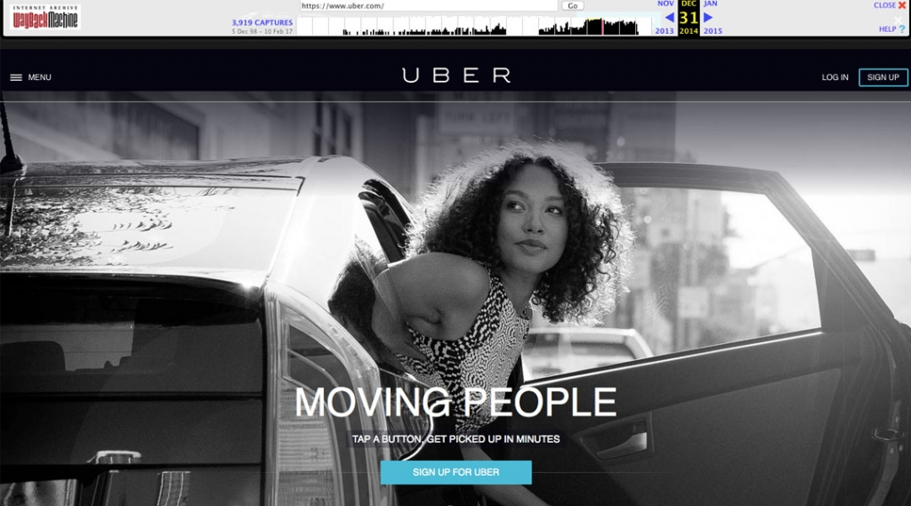 Uber 2014 Screenshot