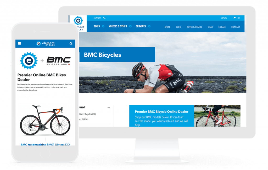 element cycles e-commerce web design