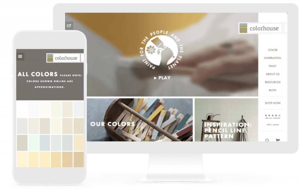 colorhouse ecommerce web design