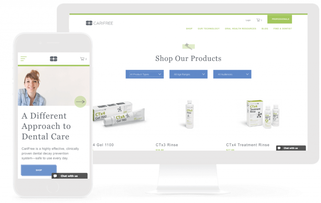 carifree ecommerce website