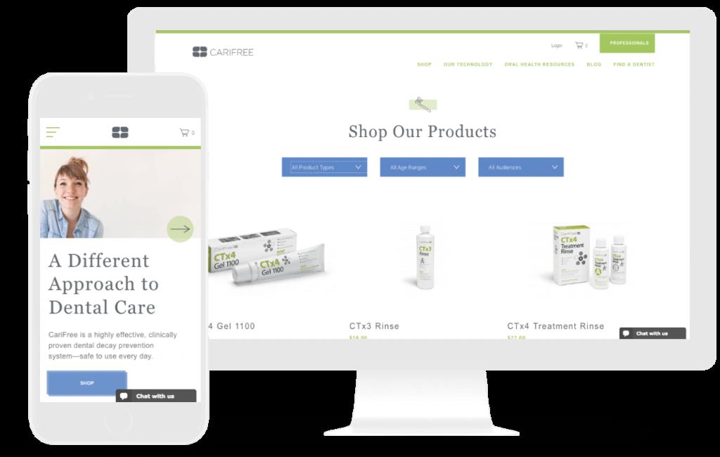 carifree ecommerce web design