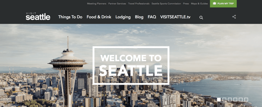 visitseattle travel website