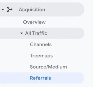 Viewing Referral Traffic in Google Analytics