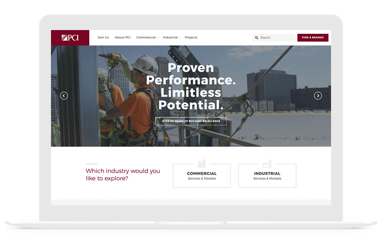 performance contracting web design