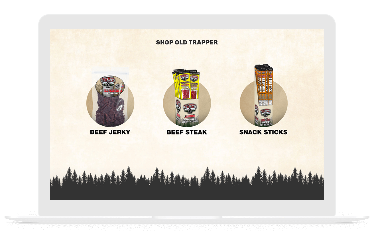 Old Trapper ecommerce web design