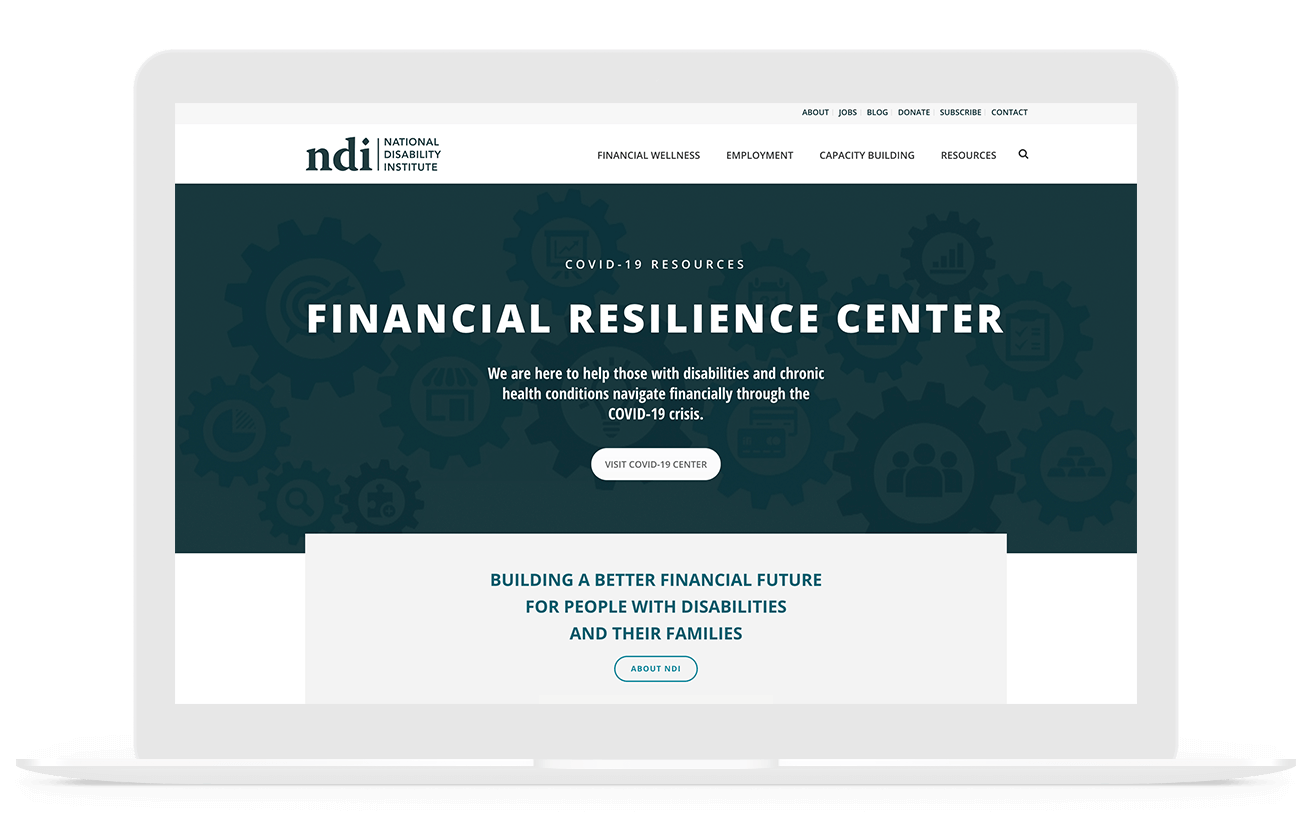 National Disability Institute Nonprofit Web Design