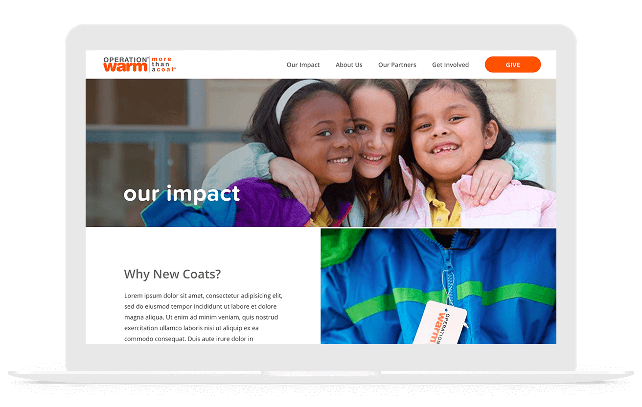 Operation Warm Nonprofit Web Design