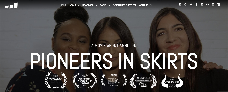 Pioneers in Skirts homepage