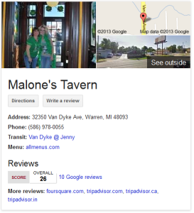 google local listing image